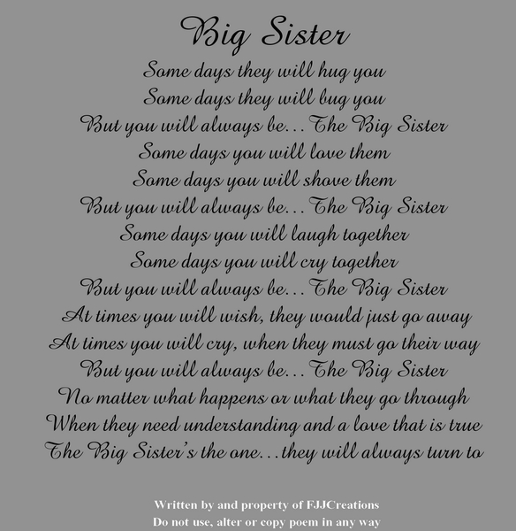 older sister poems that make you cry - photo #6