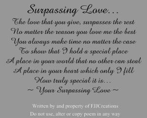surpassing love